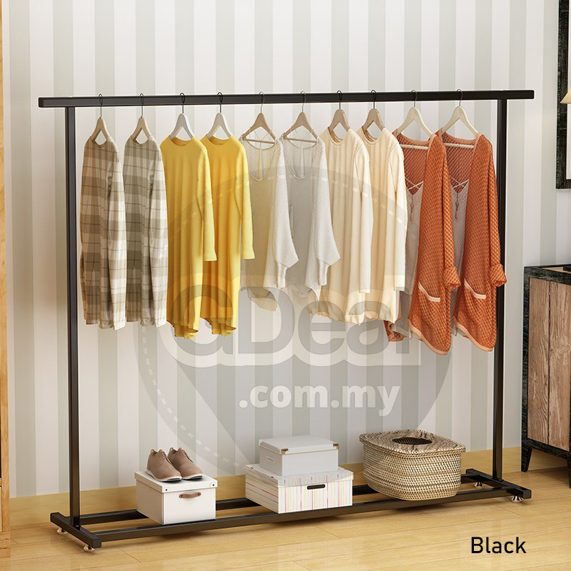 Indoor Single Pole Bedroom Hanger Balcony Simple Clothes Drying Rack
