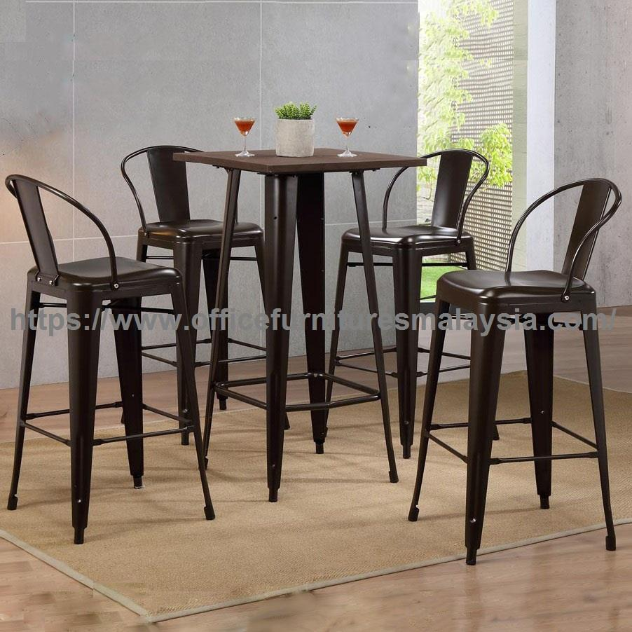 Industrial Style Counter Height Dining Table Set YGRDS-11001AT10111BS