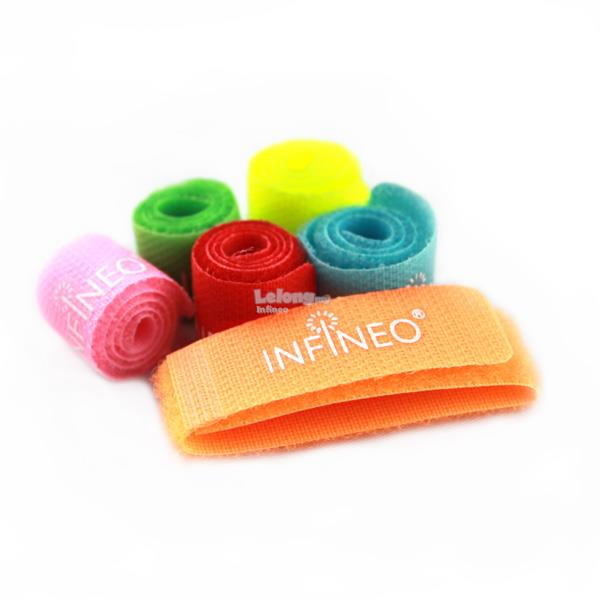 INFINEO 6 in 1 Velcro Nylon Cable Ties