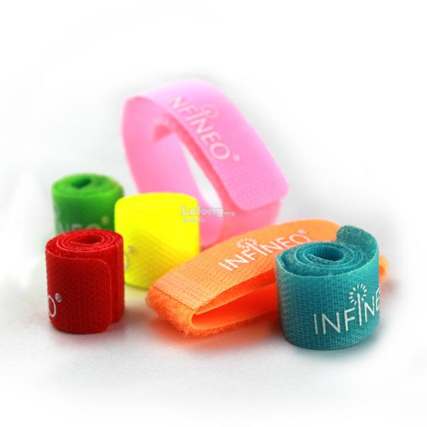 INFINEO 6 in 1 Velcro Nylon Colorful Cable Tie