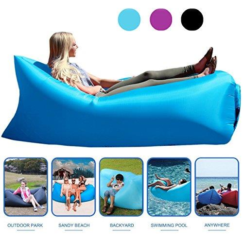 Inflatable Bag Lazy Air Sofa (Blue)