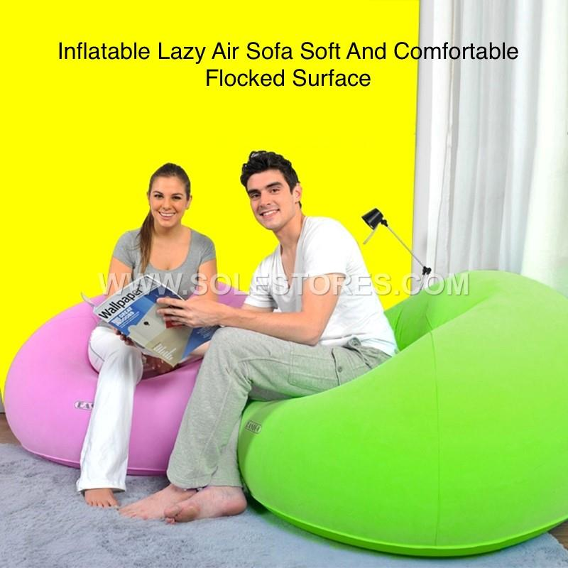 Inflatable Lazy Air Sofa Chair And Electric Pump No Box