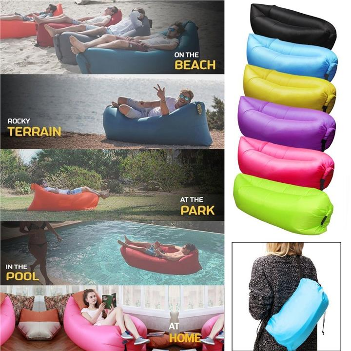 Inflatable Lounger Air Balloon Bag Bed Sofa Portable Hangout Wind