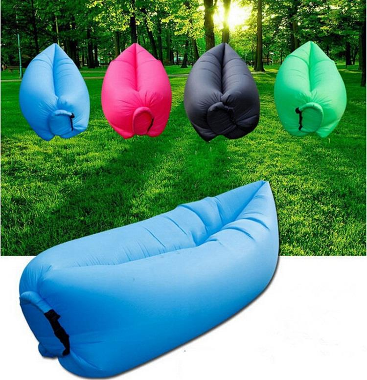 Elegant Inflatable Wind Bed Lazy Bag Air Sofa Lamzac W/ Side Pocket Latest Ver