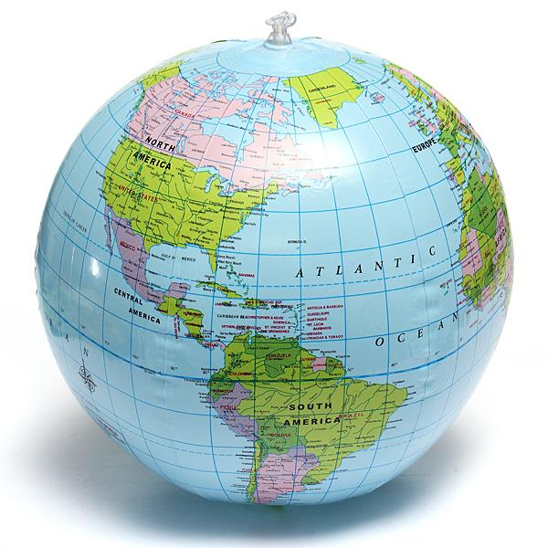 Inflate Inflatable Earth Tellurion W End PM - World globe map