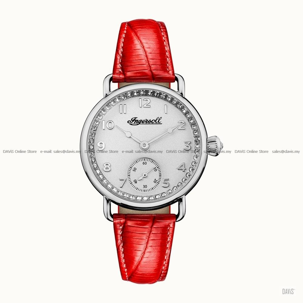INGERSOLL I03601 Quartz Trenton Small-Second Crystals W-Red Leather