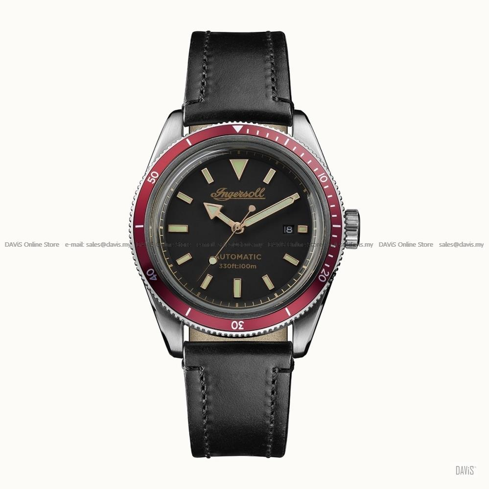 INGERSOLL I05003 Automatic Scovill Date M-Black Leather