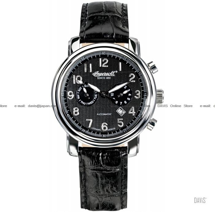 INGERSOLL IN1821BK Automatic Pullmann Calendar M-Black Leather LE