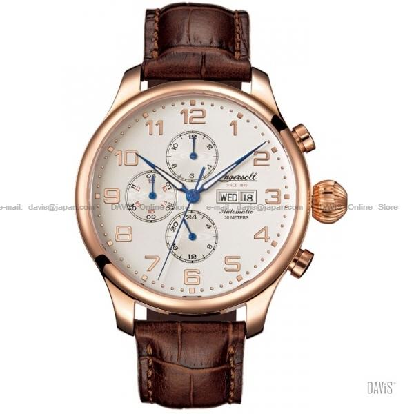 INGERSOLL IN3900RG Automatic Apache Calendar M-White Leather LE. ‹ › d19a8024342