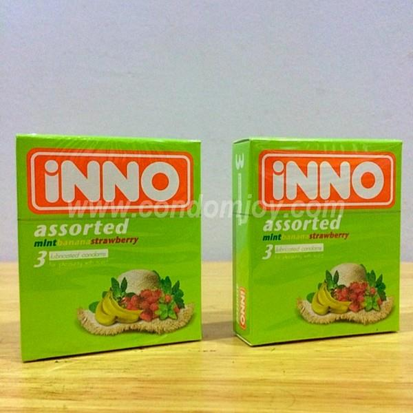 iNNO Assorted Flavour Lubricated Condoms 3pcs x 2 boxes