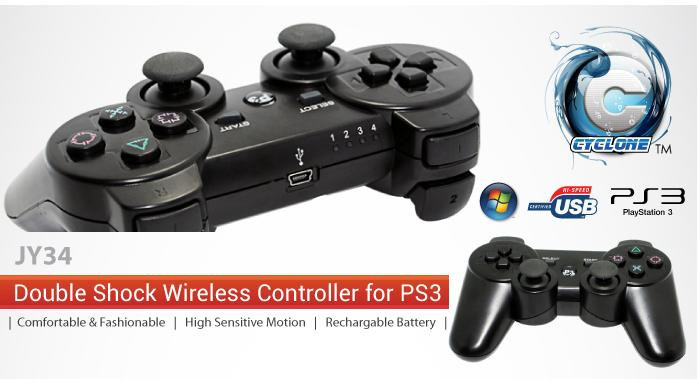 INNO DOUBLE SHOCK VIBRATE WIRELESS GAMEPAD CONTROLLER (JY34)