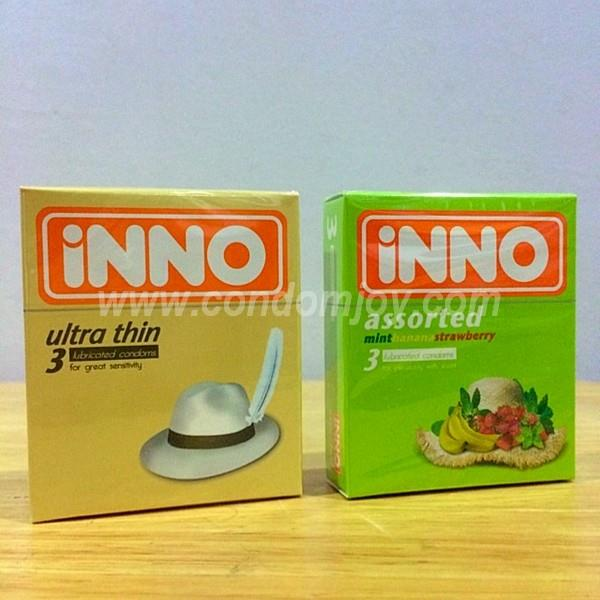 iNNO Ultra Thin & Assorted Flavour Lubricated Condoms 3pcs x 2 boxes
