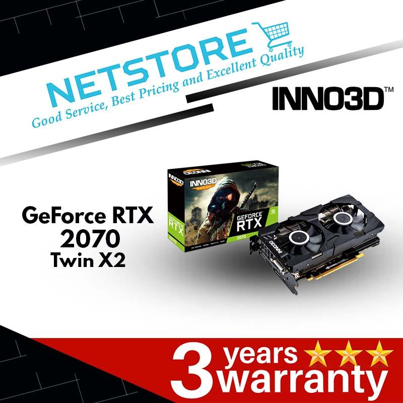 INNO3D GeForce RTX 2070 Twin X2  - 8GB GDDR6 | 14Gbps