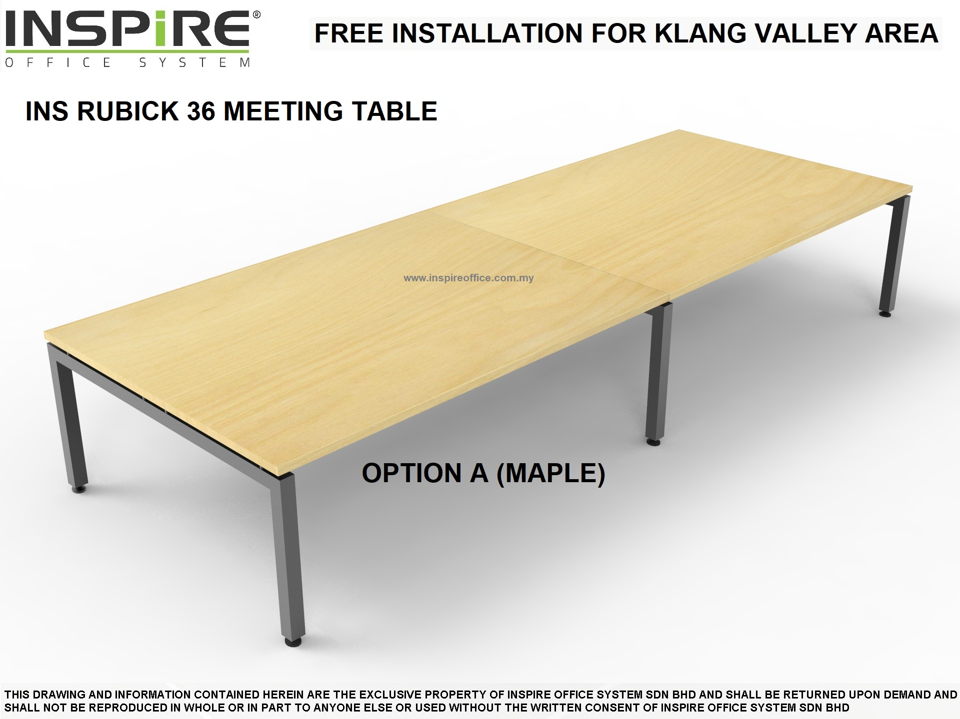 INS RUBICK 36 MEETING | CONFERENCE TABLE (MAPLE)