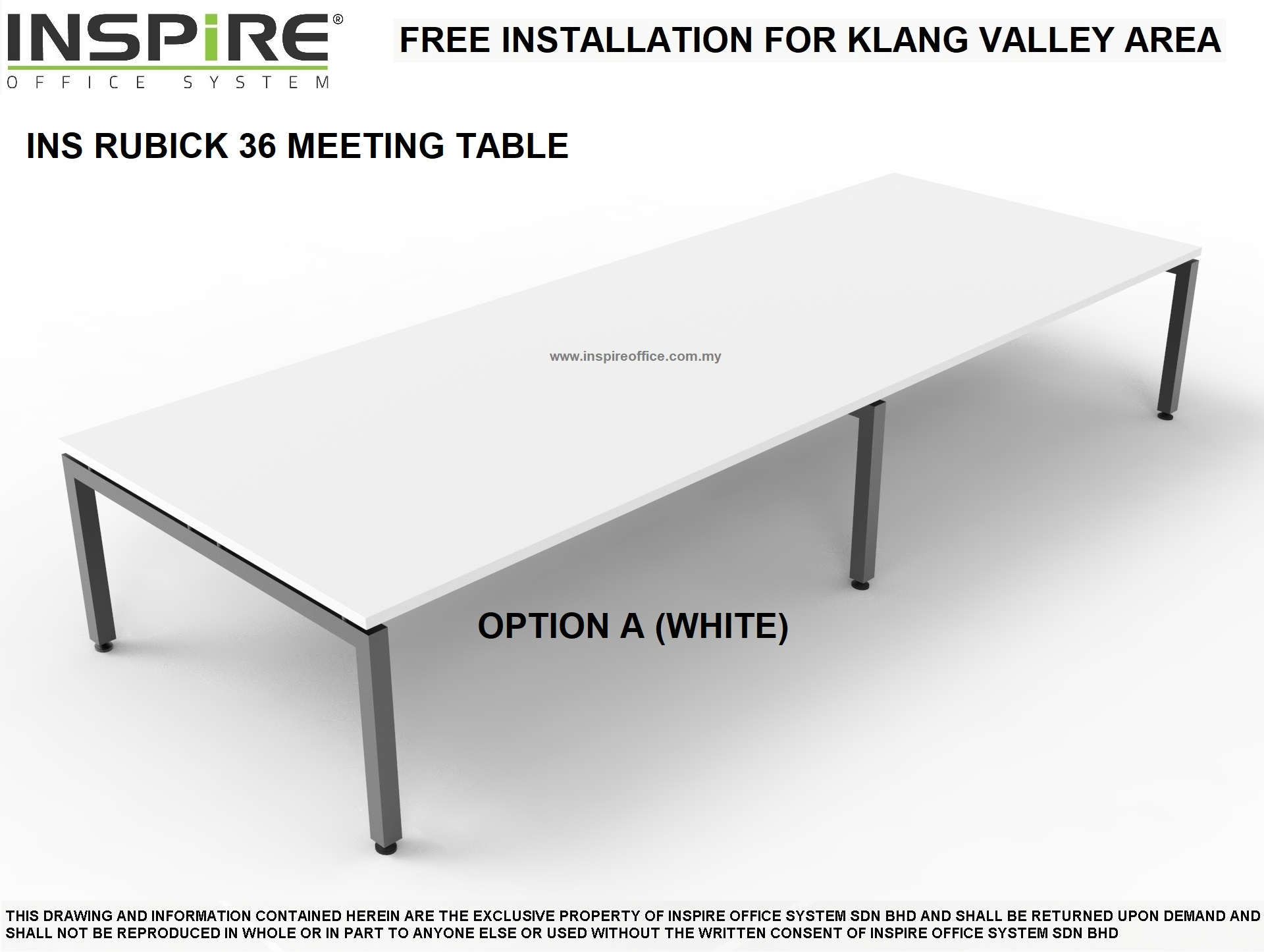 INS RUBICK 36 MEETING | CONFERENCE TABLE (WHITE)