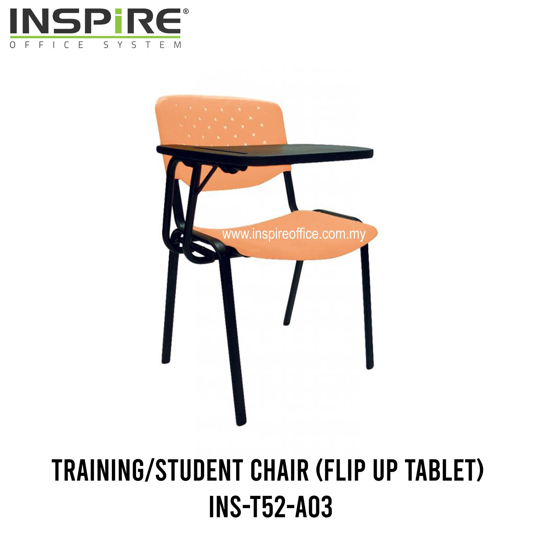 INS-T52-A03 Training/Student Chair (Flip Up Tablet)