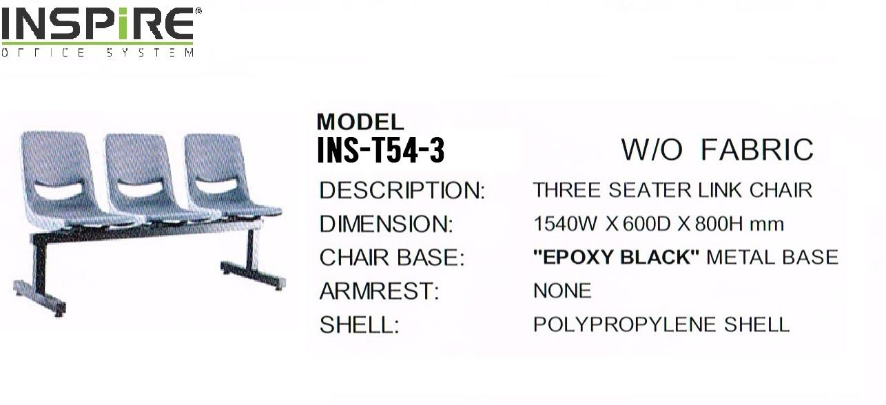 INS-T54-3 Link Chair Three Seater