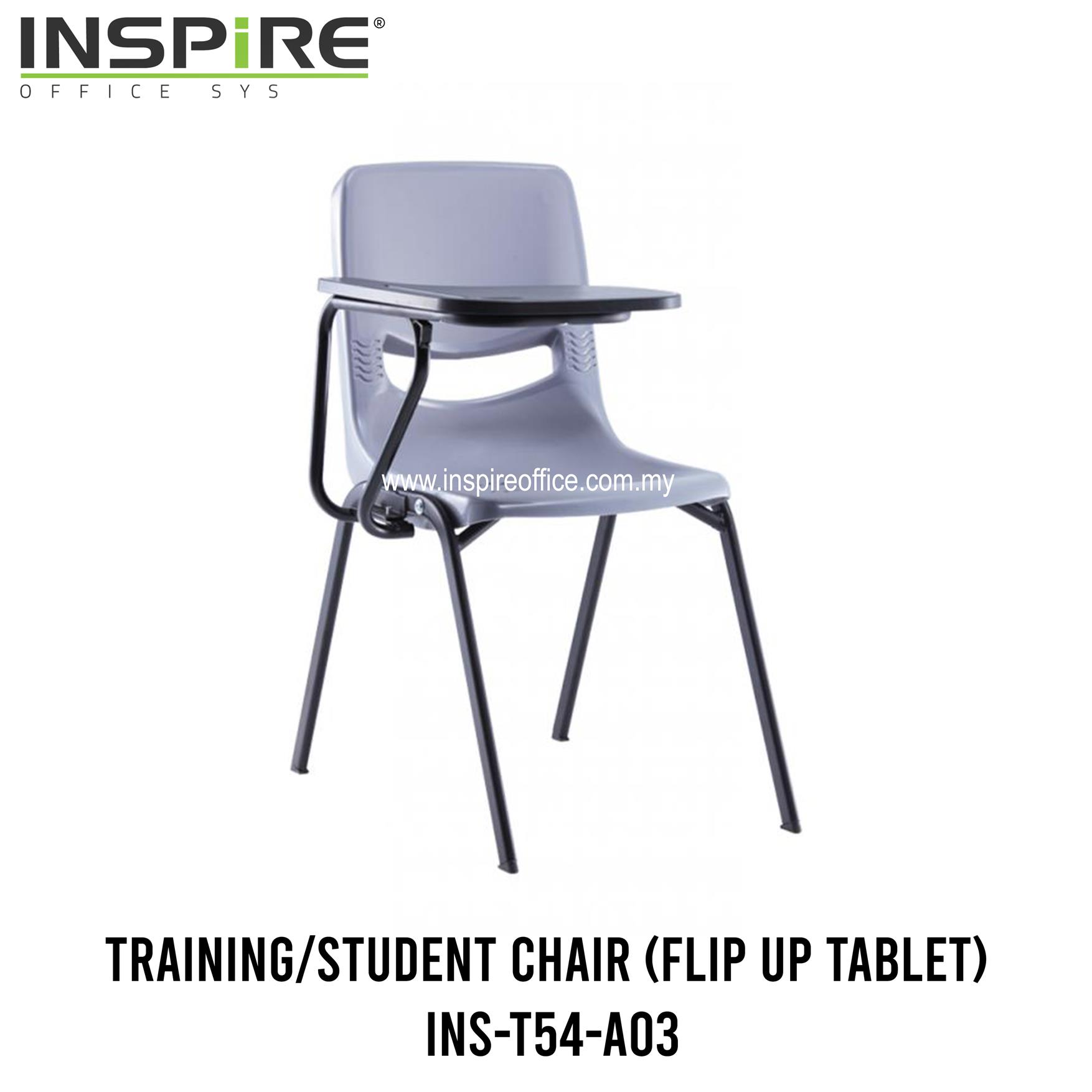 INS-T54-A03 Training/Student Chair (Flip Up Tablet)