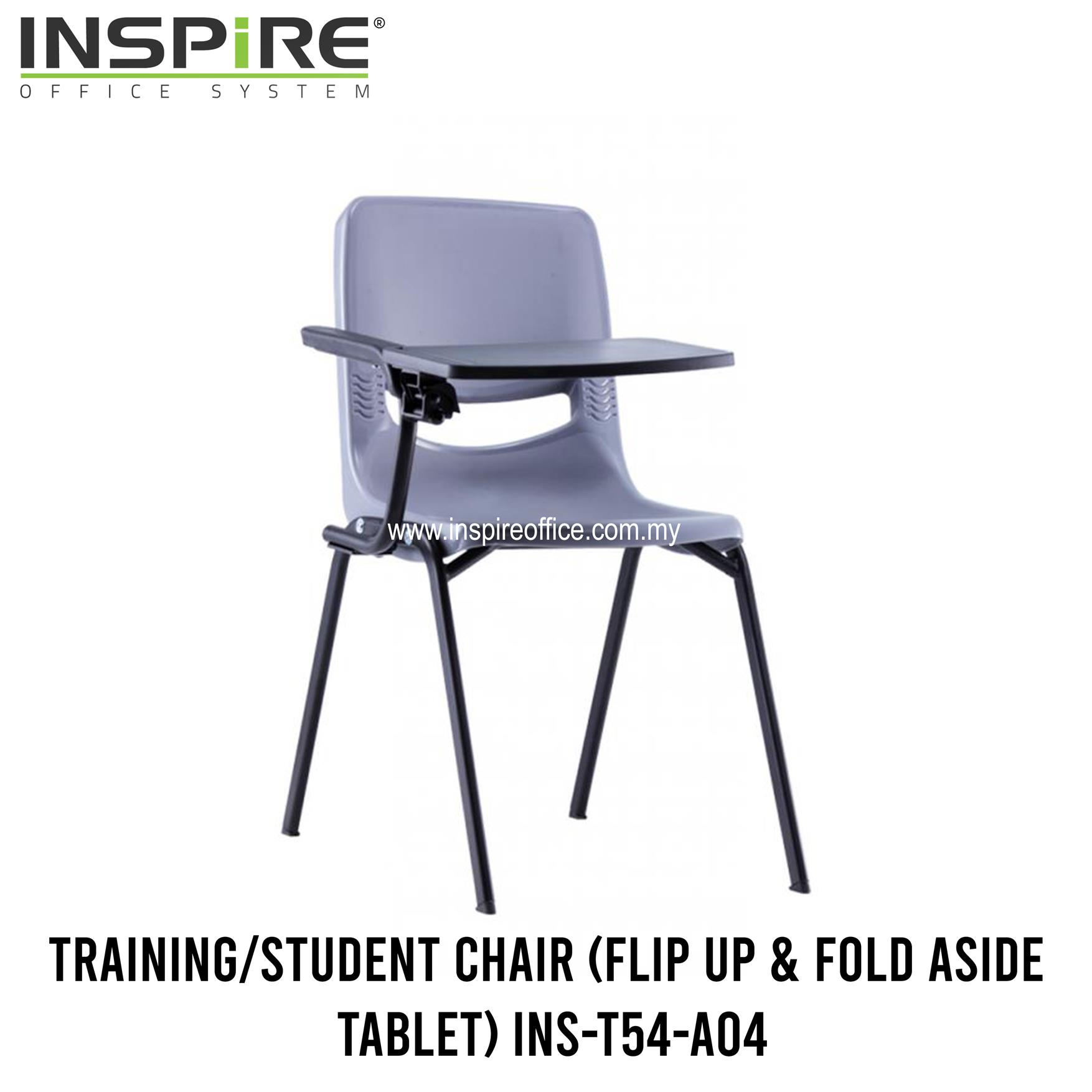 INS-T54-A04 Student Chair (Flip Up & Fold Aside Tablet)