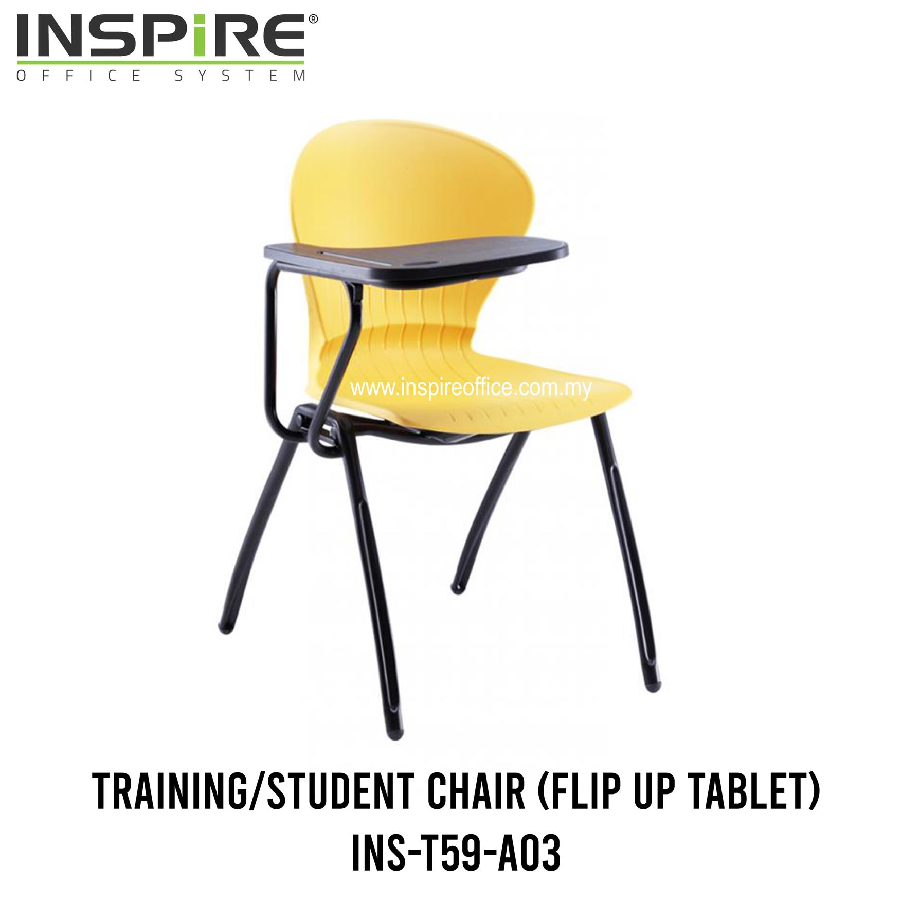 INS-T59-A03 Training/Student Chair (Flip Up Tablet)