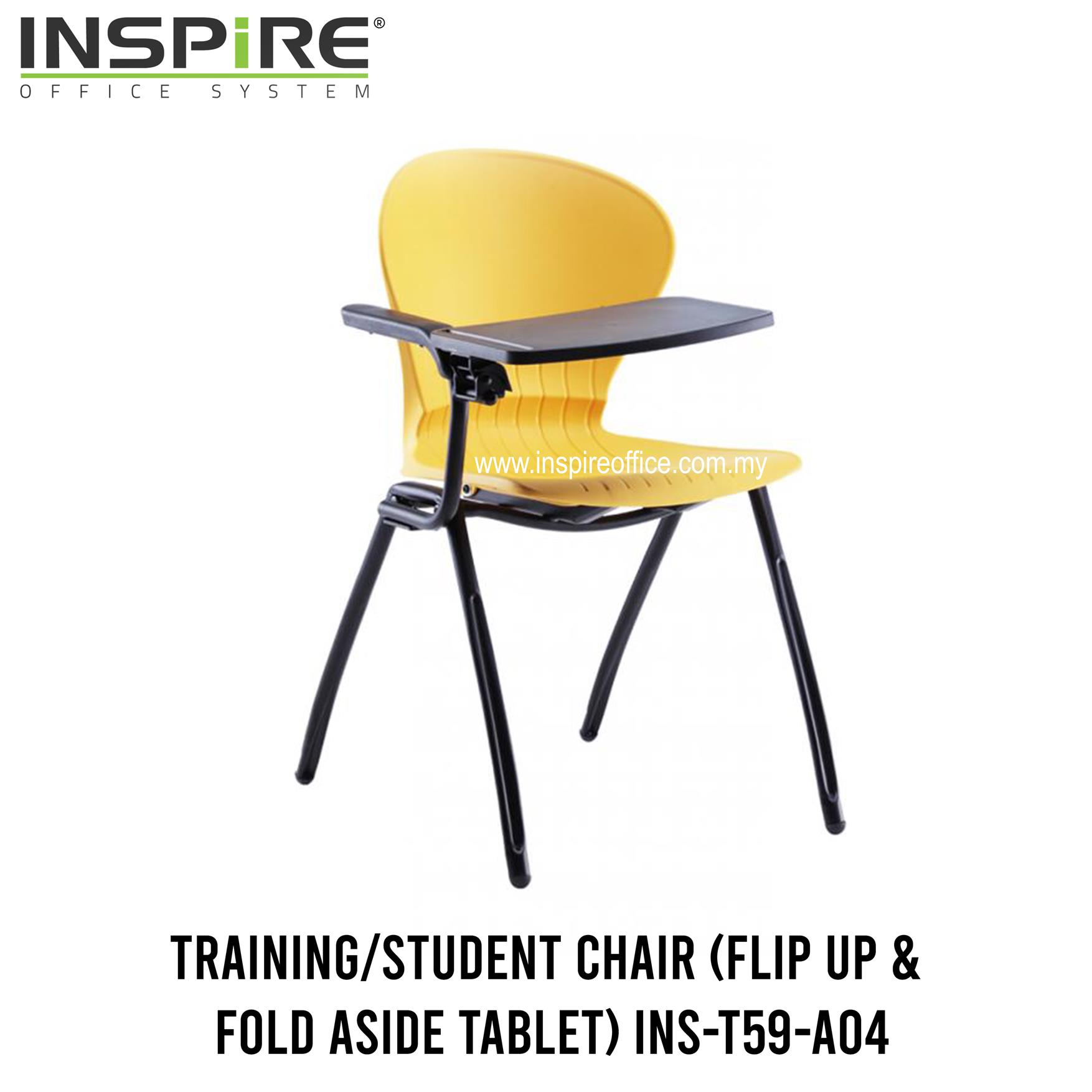 INS-T59-A04 Student Chair (Flip Up & Fold Aside Tablet)