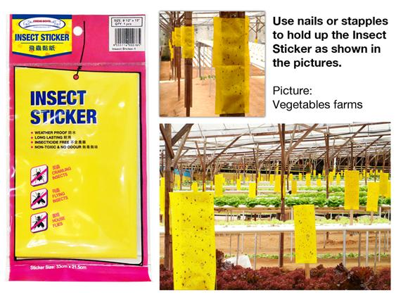 Insect Sticker 1pc/pack- Pest Control yellow sticker