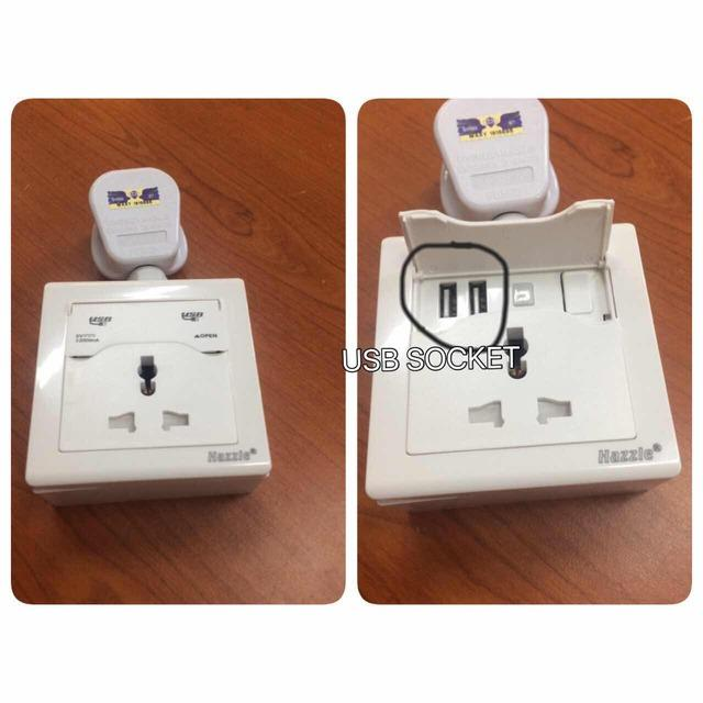 SELF INSTALL!!13A SWITCH SOCKET USB 5V 2.0A GOOD QUALITY