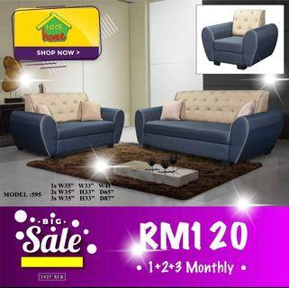 installment plan sofa 1+2+3 RM120