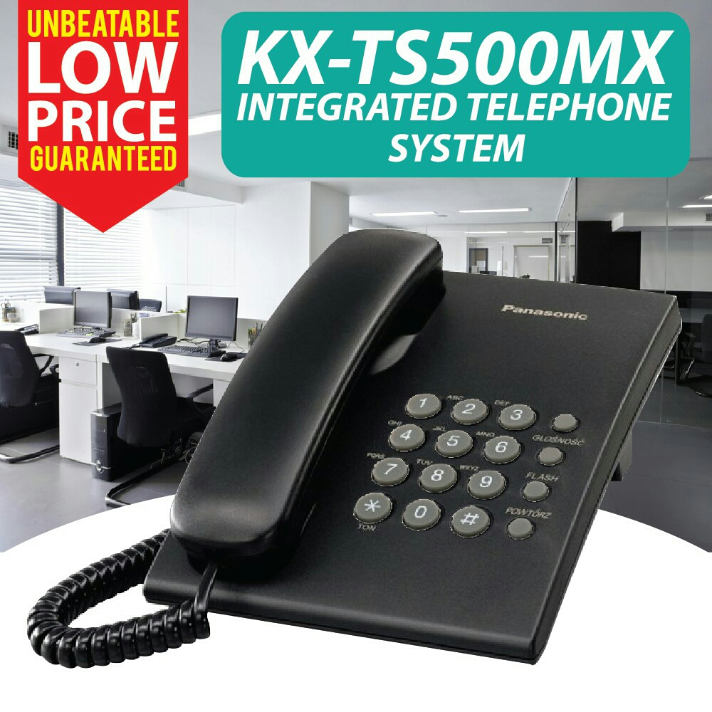 Integrated Telephone System Kx Ts500mx Landline Corded Office Home