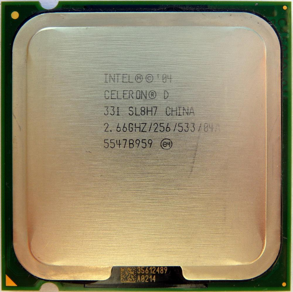 Intel Celeron D 331 Processor 2.66GHz 256KB L2 533MHz FSB Socket 775