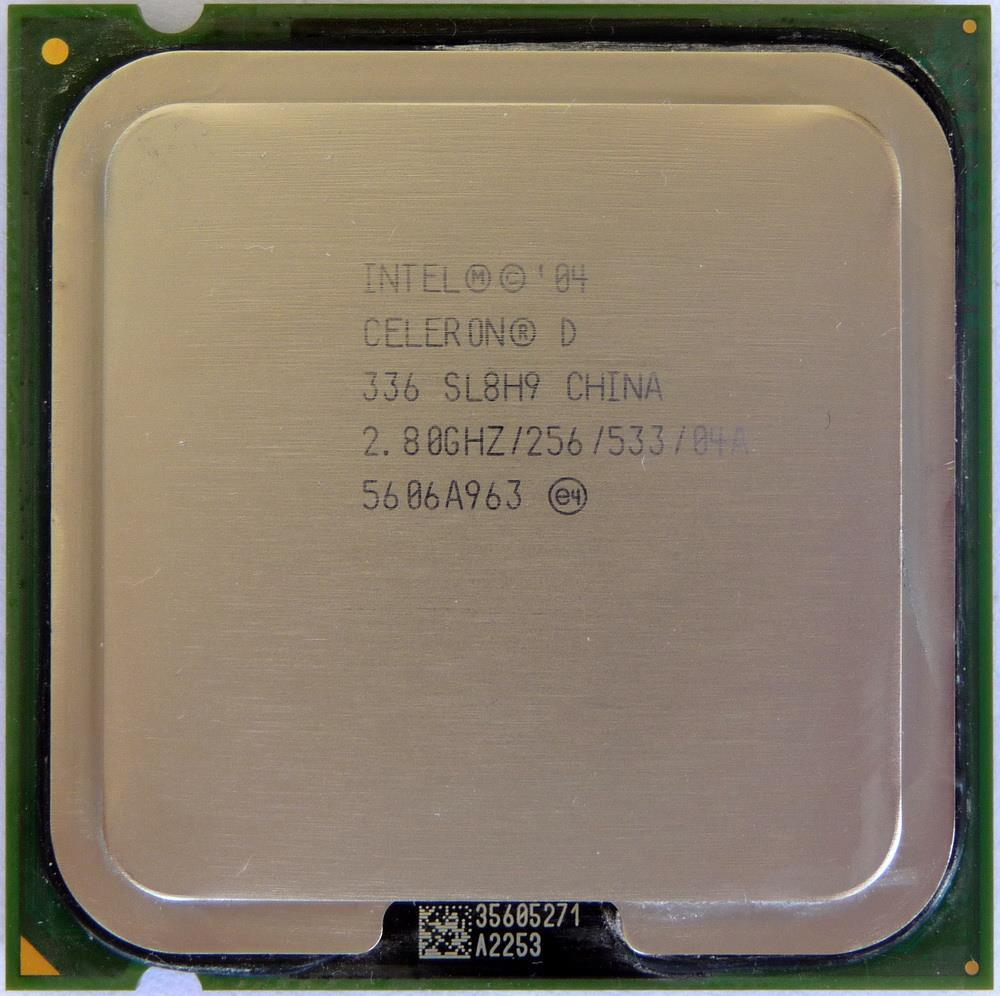 Intel Celeron D 336 Processor 2.80GHz 256KB L2 533MHz FSB Socket 775