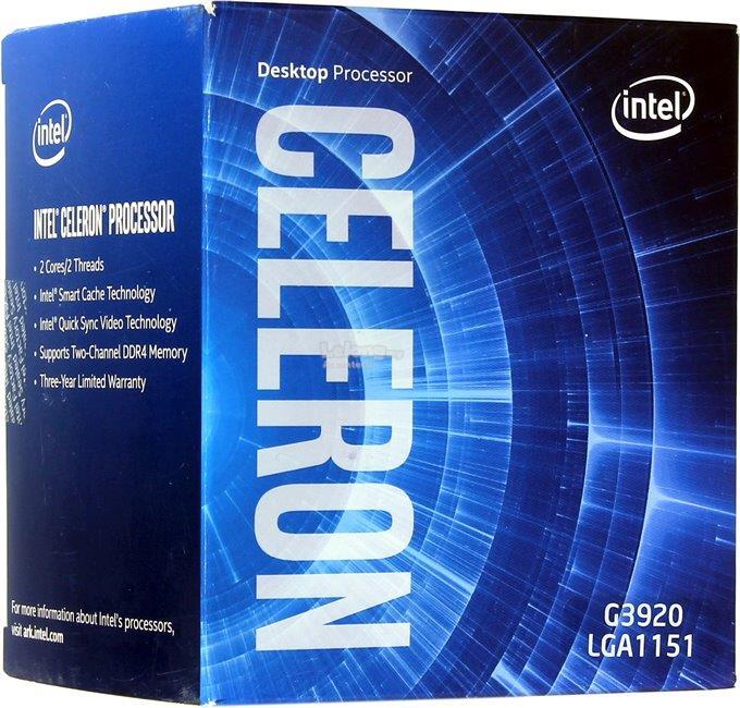 Processador Intel Celeron G3920 (Cache de 2M, 2,90 GHz)