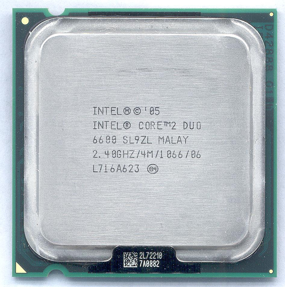 Intel Core 2 Duo 6600 Processor 2.40GHz 4M 1333MHz FSB LGA775 SL9ZL