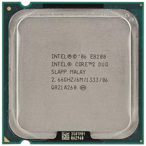 Intel Core 2 Duo Processor E8200 2.66GHz Socket 775 LGA775 C2D CPU