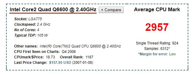 core 2 quad q6600 2.40 ghz