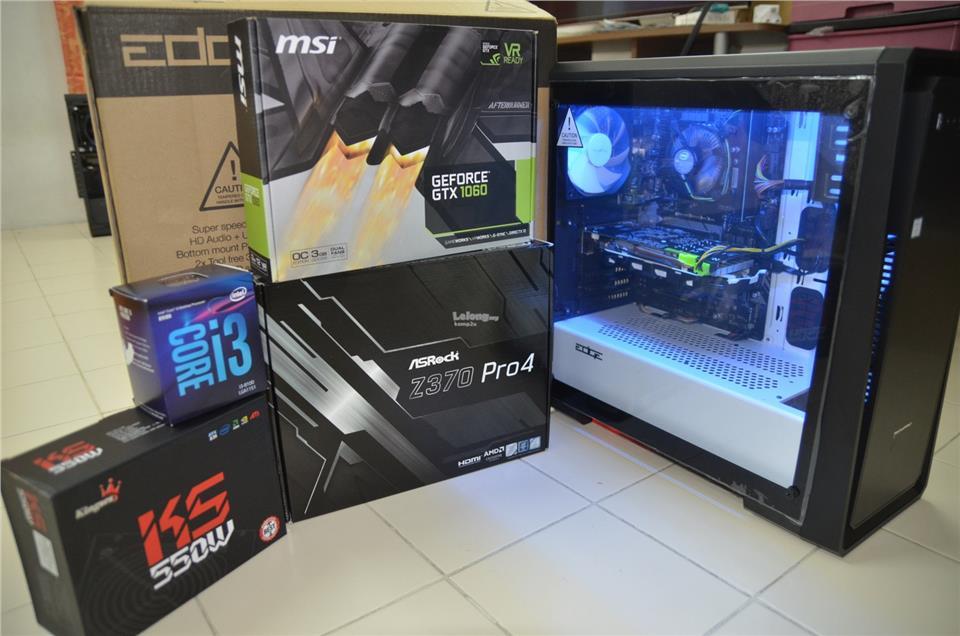INTEL CORE I3 8100 / 8GB RAM / 1TB HDD / GTX 1050 Ti 4GB (PC) GAMING