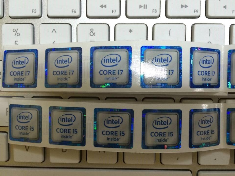 Intel core i3 i5 i7 6th generation logo sticker label