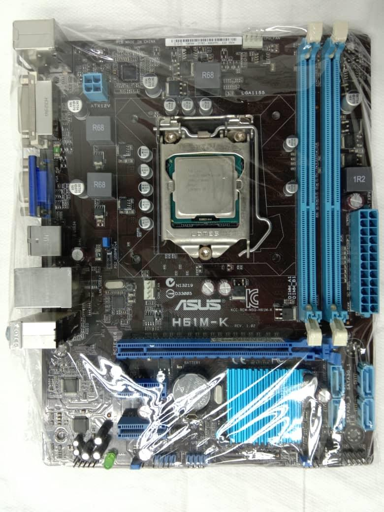 Intel Core i3 Processor 3rd Generation 3220 with ASUS H61M-K Mother Bo