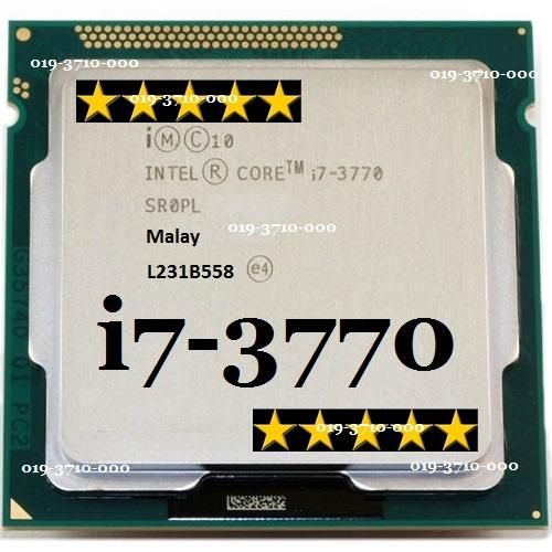 INTEL CORE i7-3770 3.40GHZ SOCKET 1150 PROCESSOR Free CPU Fan