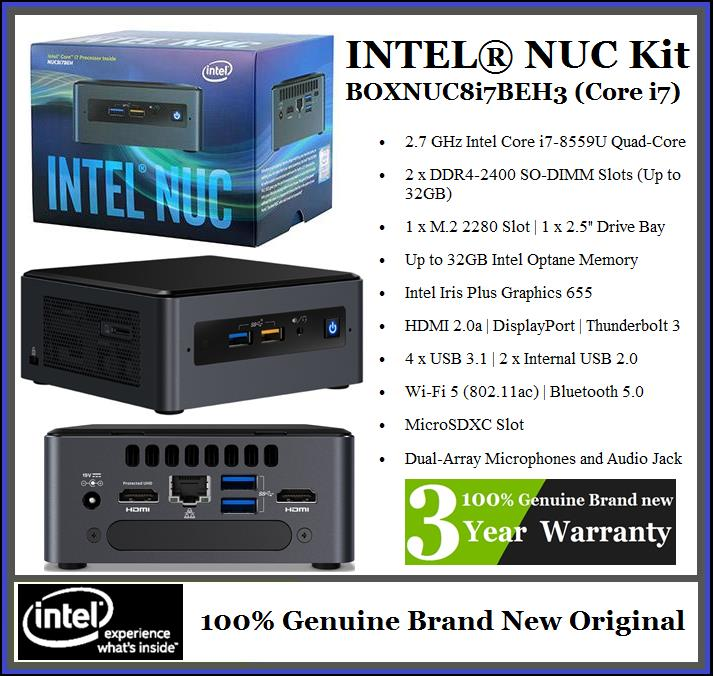 INTEL NUC Kit BOXNUC8i7BEH3 Mini PC (WhatsApp 019-3710-000)