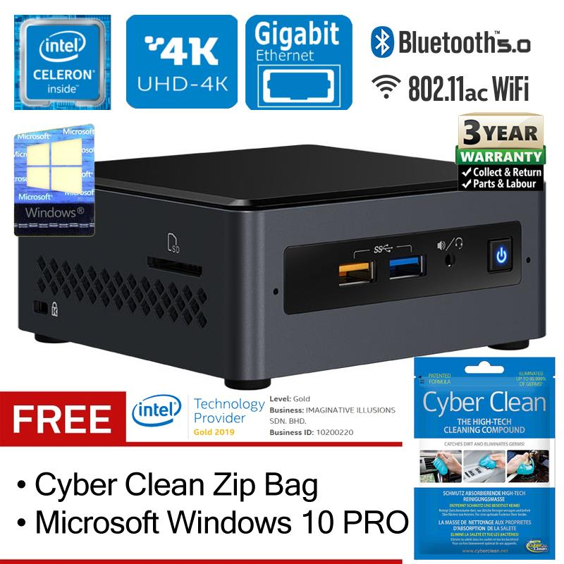 Intel NUC NUC7CJYH Celeron 2 7GHz Dual-Core Mini PC (Package)