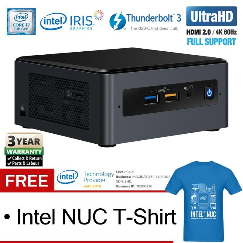 Intel NUC NUC8i7BEH Core i7 4 5GHz Quad-Core Mini PC (Barebone)