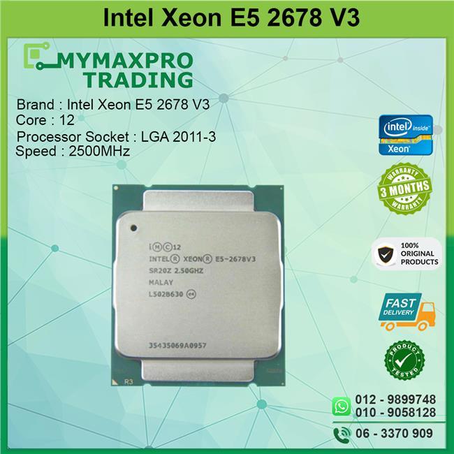 Intel Xeon E5 2678 V3 2 5GHz 2011-V3 Server Processor x99 2670 Series