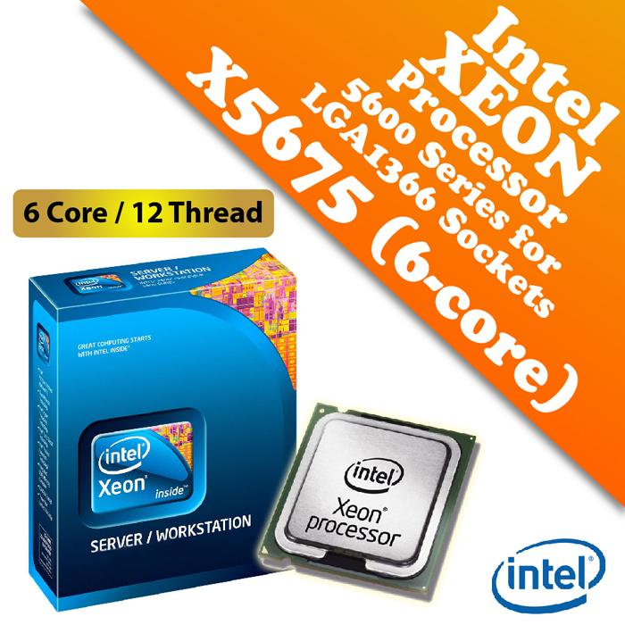 Intel Xeon Processor X5675 (3.06GHz,12MB Cache,6C/12T,LGA1366)
