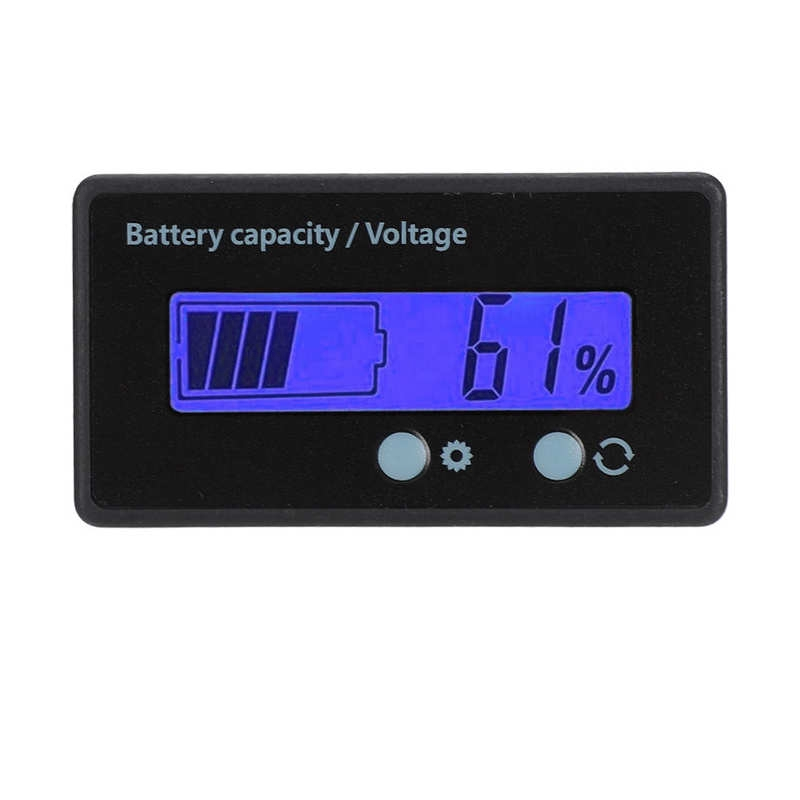 Intelligent Gy-6gs Battery Power Lcd Display Voltage M - [WHITE LIGHT]