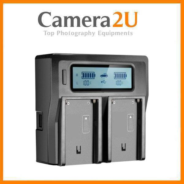 Intelligent LCD Dual Battery Charger for NP-FZ100 for A7 MK Mark 3 III