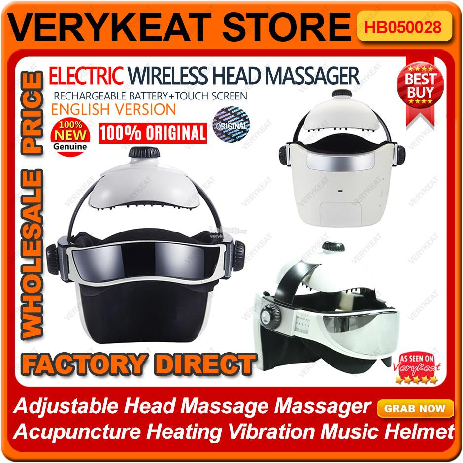 Intelligent Wireless Head Massager Acupuncture Heating Vibration Music