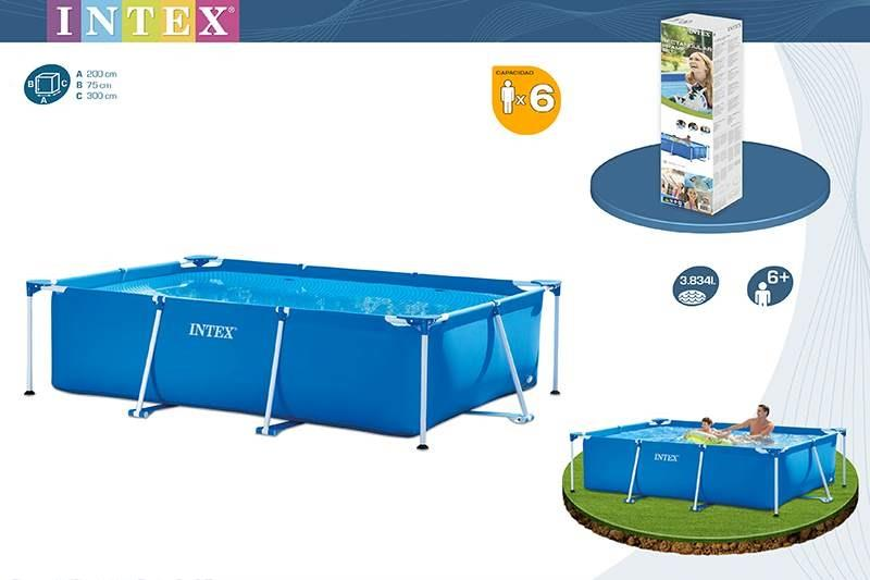 Intex above ground pool metal frame end 5 13 2018 12 15 pm for How many meters is a swimming pool