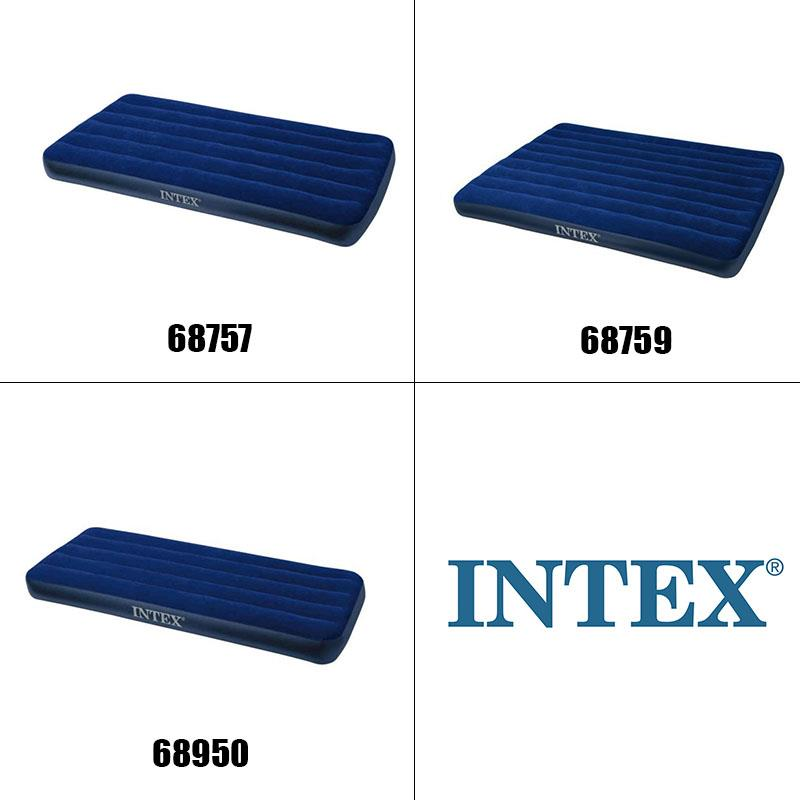 intex inflatable air bed mattress single size with 2in1 valve