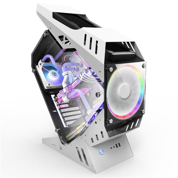 INVASION GT-100 RGB TG ATX CHASSIS - WHITE
